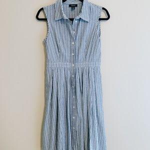 Tea Length Front Button Down Dress